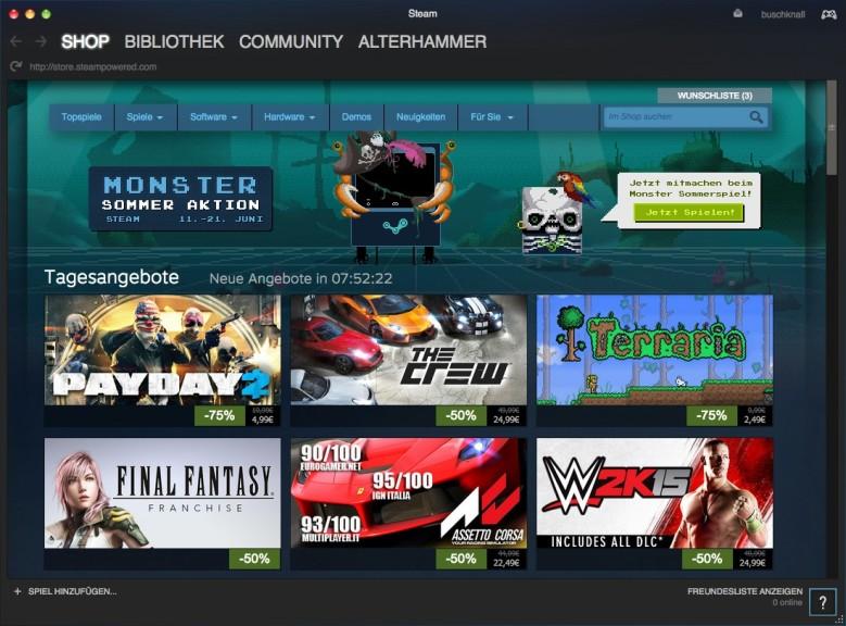 Screenshot 1 - Steam (Mac)