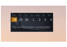 Screenshot 1 - Windows Live Calendar Gadget