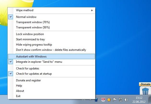 Screenshot 1 - Free File Wiper