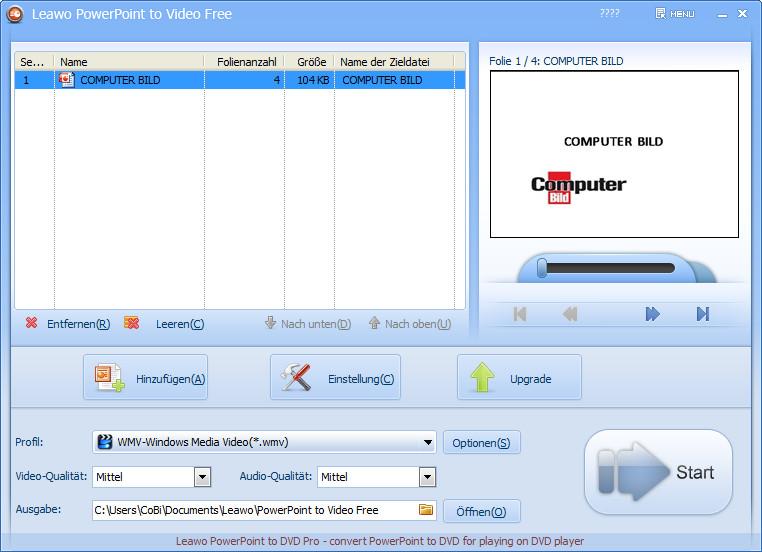 Screenshot 1 - Leawo PowerPoint to Video Free
