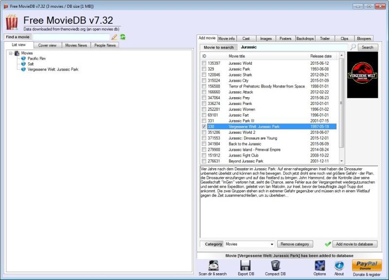 Screenshot 1 - Free MovieDB