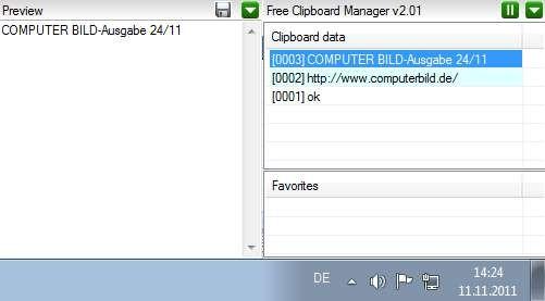 Screenshot 1 - Free Clipboard Manager