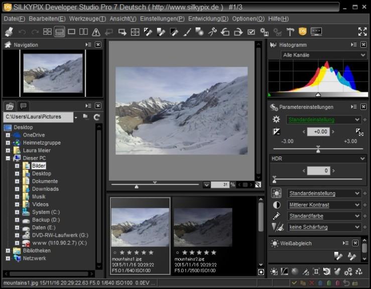Screenshot 1 - Silkypix Developer Studio Pro 7