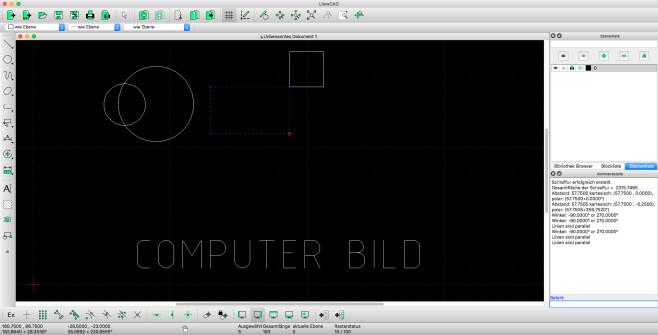 Screenshot 1 - LibreCAD (Mac)