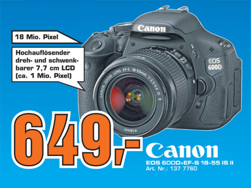 Canon EOS 600D+EF-S 18-55 IS II ©Saturn
