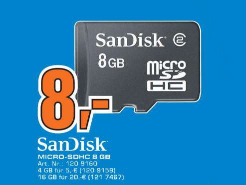 Sandisk microSDHC 8 GB ©Saturn