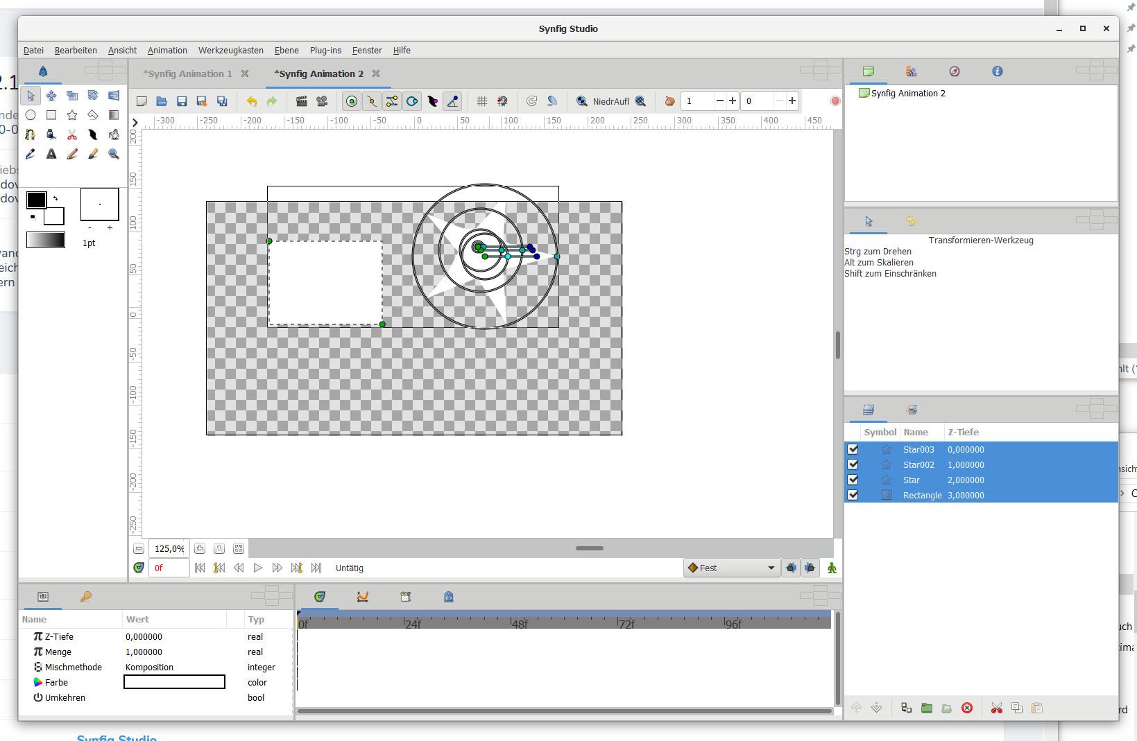 Screenshot 1 - Synfig Studio