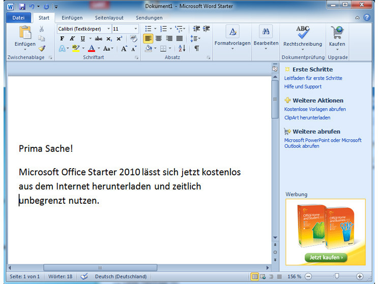 microsoft office starter 2010 update
