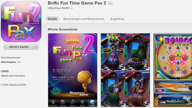 Screenshot Boffo Fun Time Game Pax 2 © COMPUTER BILD