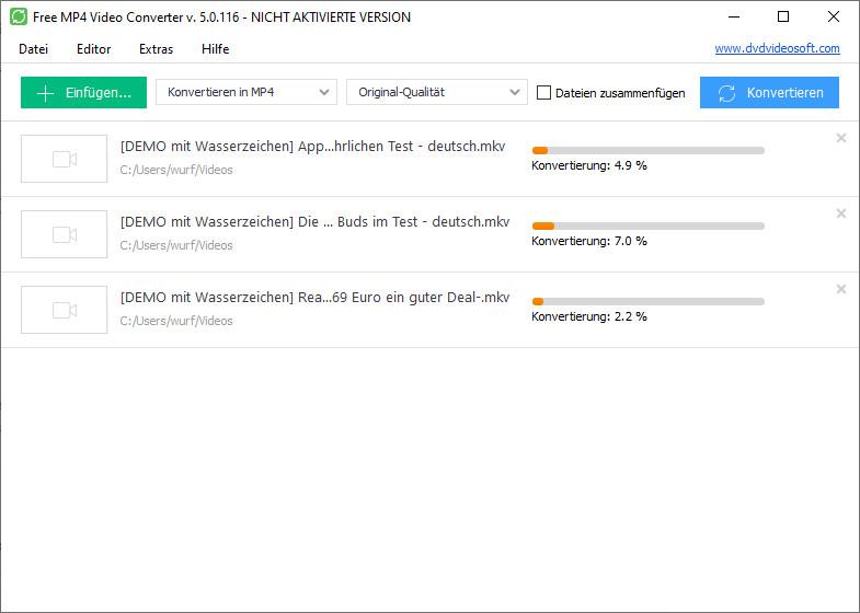 Screenshot 1 - Free MP4 Video Converter