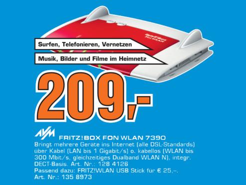 AVM Fritz!Box Fon WLAN 7390 ©Saturn