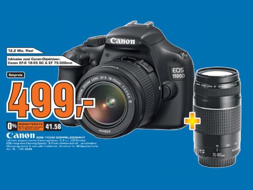 Canon EOS 1100D Doppelzoom-Kit ©Saturn