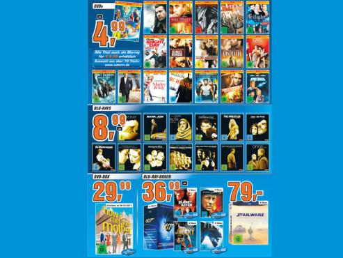 Filme auf DVD und Blu-ray-Disc ©Saturn