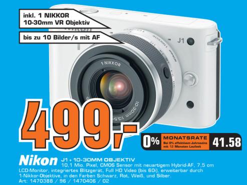 Nikon 1 J1 + 10-30mm Objektiv ©Saturn
