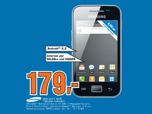 Samsung Galaxy Ace ©Saturn