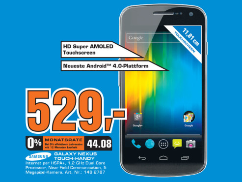 Samsung Galaxy Nexus ©Saturn
