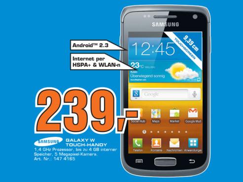 Samsung Galaxy W ©Saturn