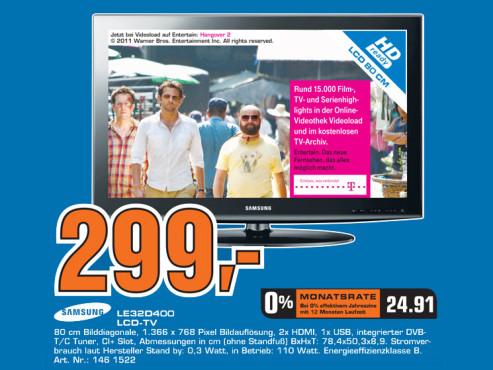 Samsung LE32D400 ©Saturn