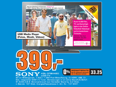 Sony KDL-37BX420 ©Saturn