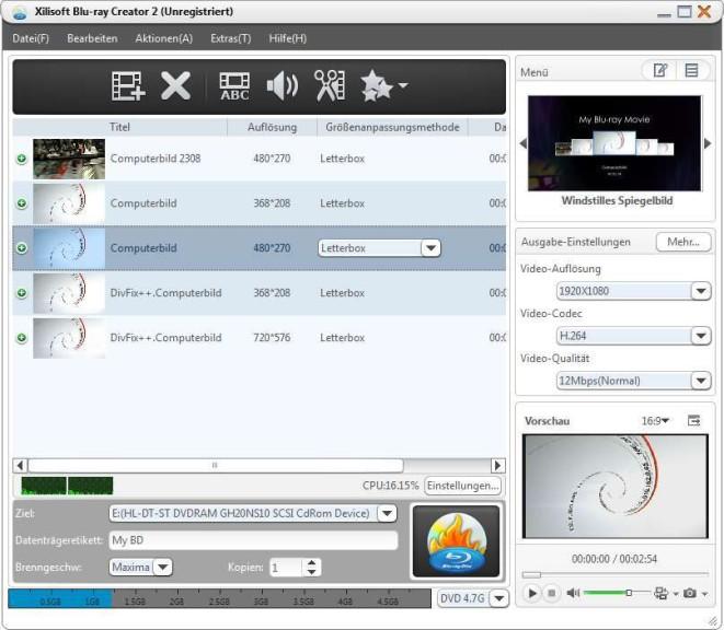 Screenshot 1 - Xilisoft Blu-ray Creator