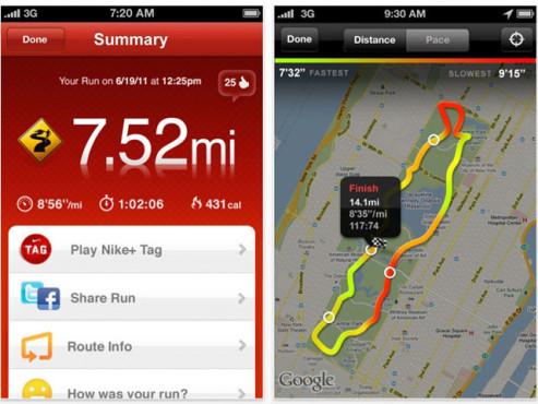 Nike + GPS ©Nike Inc.