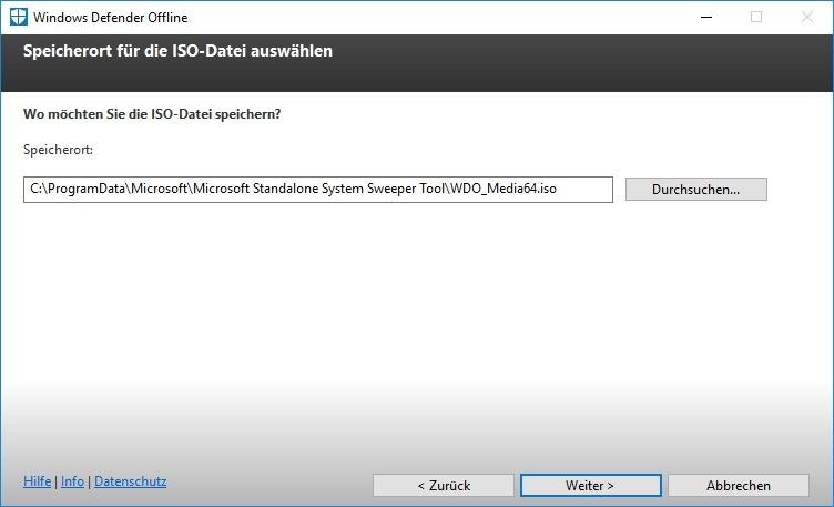 download windows defender offline iso