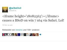 Webdevil Twitter Nachricht©COMPUTER BILD