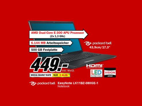 Packard Bell Easynote LK11BZ-080GE-1 ©Media Markt