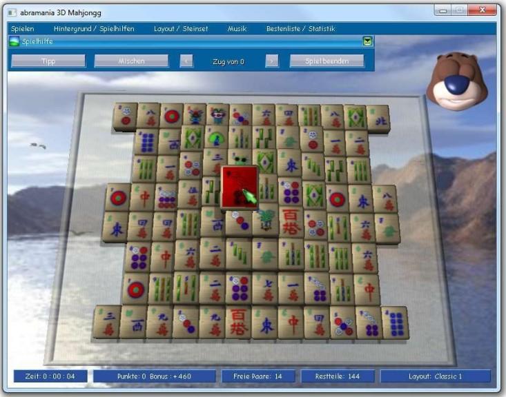 Screenshot 1 - Abramania Mahjongg 3D