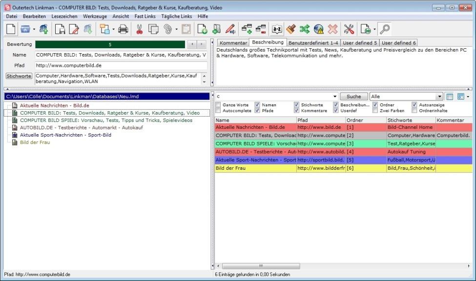 Screenshot 1 - Linkman Lite