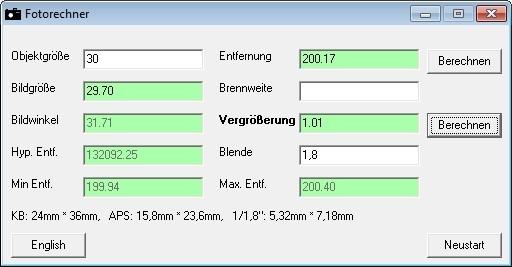 Screenshot 1 - Fotorechner