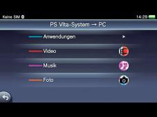 PS Vita: Inhalte-Manager©COMPUTER BILD SPIELE