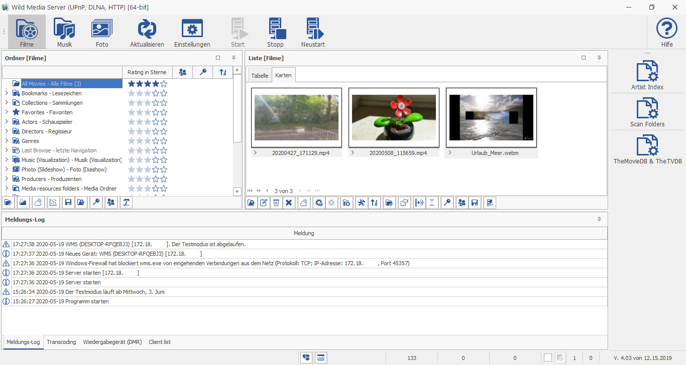 Screenshot 1 - Wild Media Server