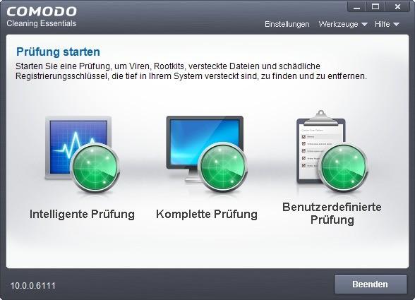 Screenshot 1 - Comodo Cleaning Essentials