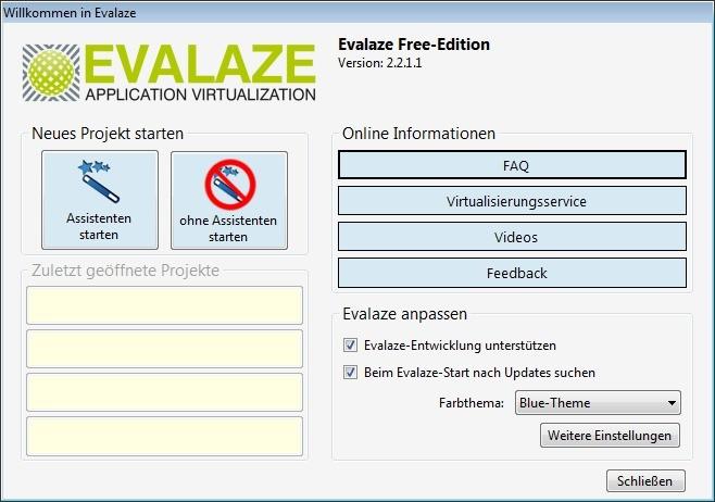 Screenshot 1 - Evalaze