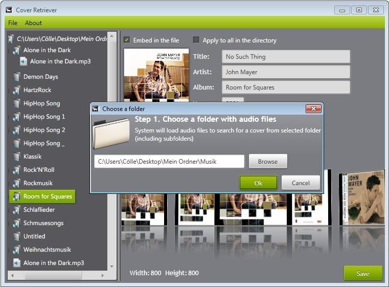 Screenshot 1 - CoverRetriever