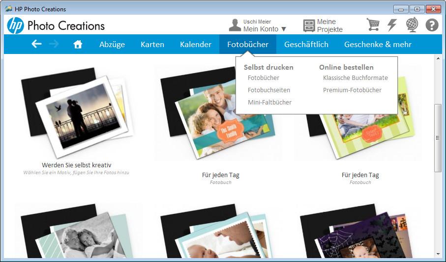 Screenshot 1 - HP Photo Creations