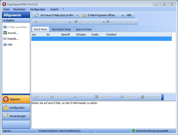 Screenshot 1 - SuperSpamKiller Pro