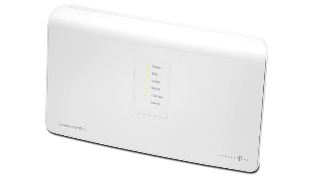 Tempo-Check: Speedport W 921V gegen FritzBox 7390 Der Speedport W 921V unterstützt WLAN auch auf der weniger störanfälligen Fünf-Gigahertz-Frequenz.©Telekom