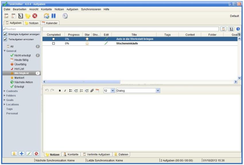Screenshot 1 - Task Unifier