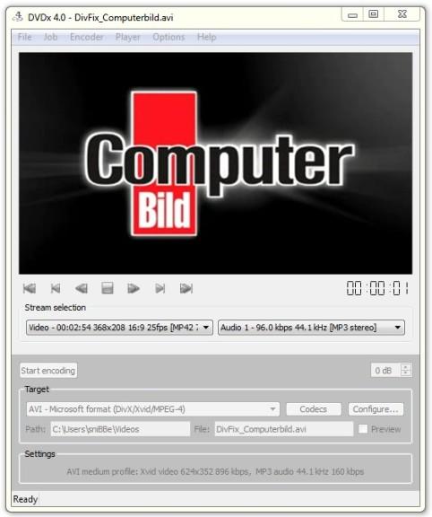 DVDx Open Edition 4 1 (Build 5519) - Download - COMPUTER BILD