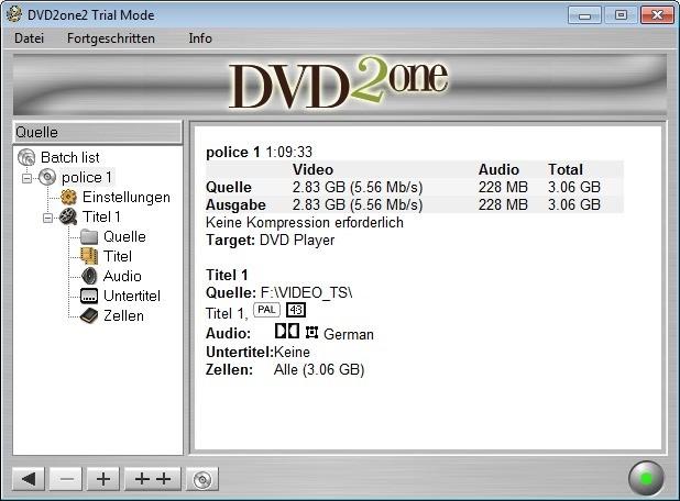 Screenshot 1 - DVD2one