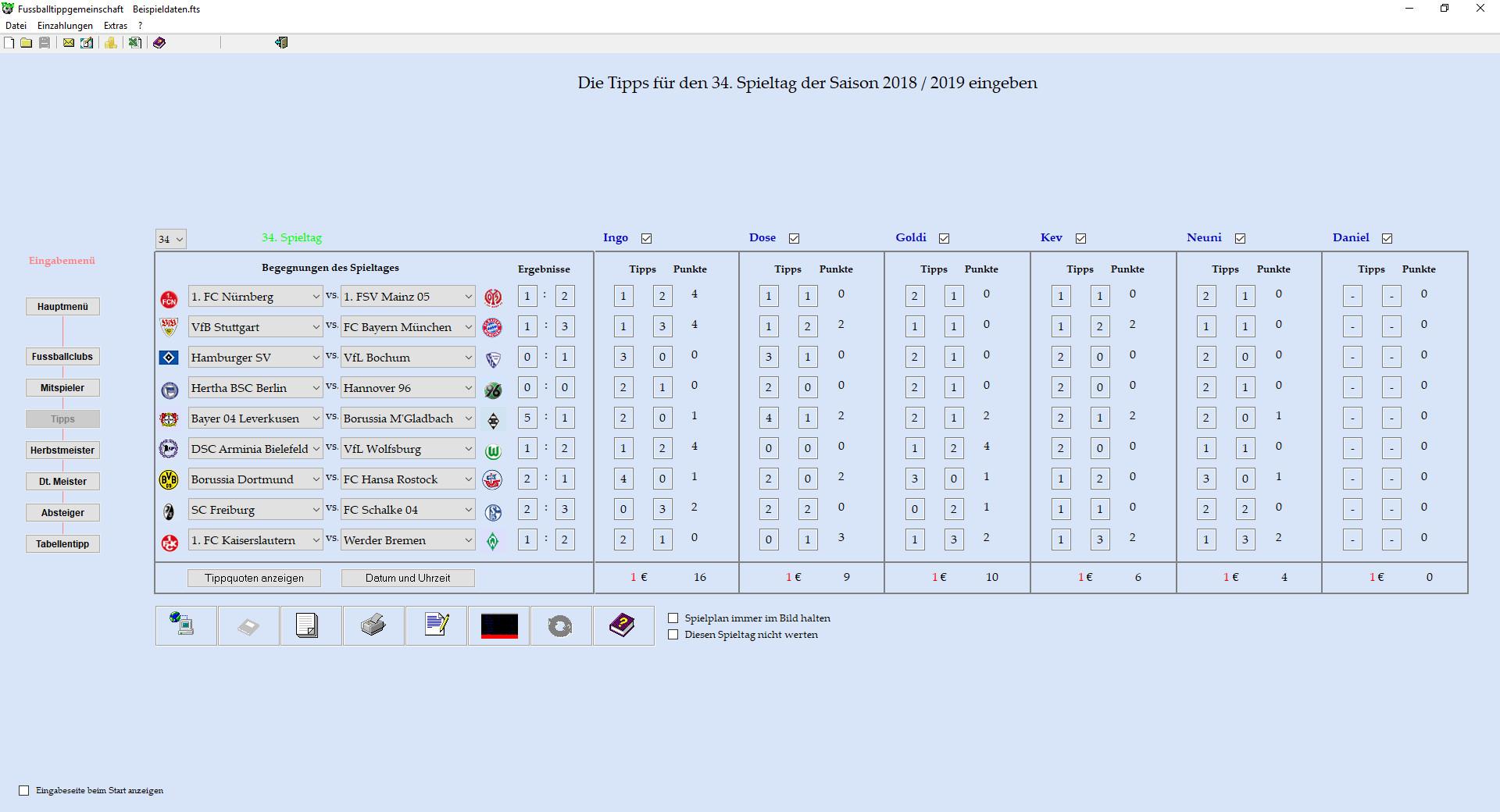 Screenshot 1 - Fussballtippgemeinschaft