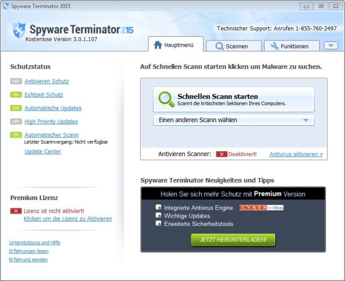Screenshot 1 - Spyware Terminator