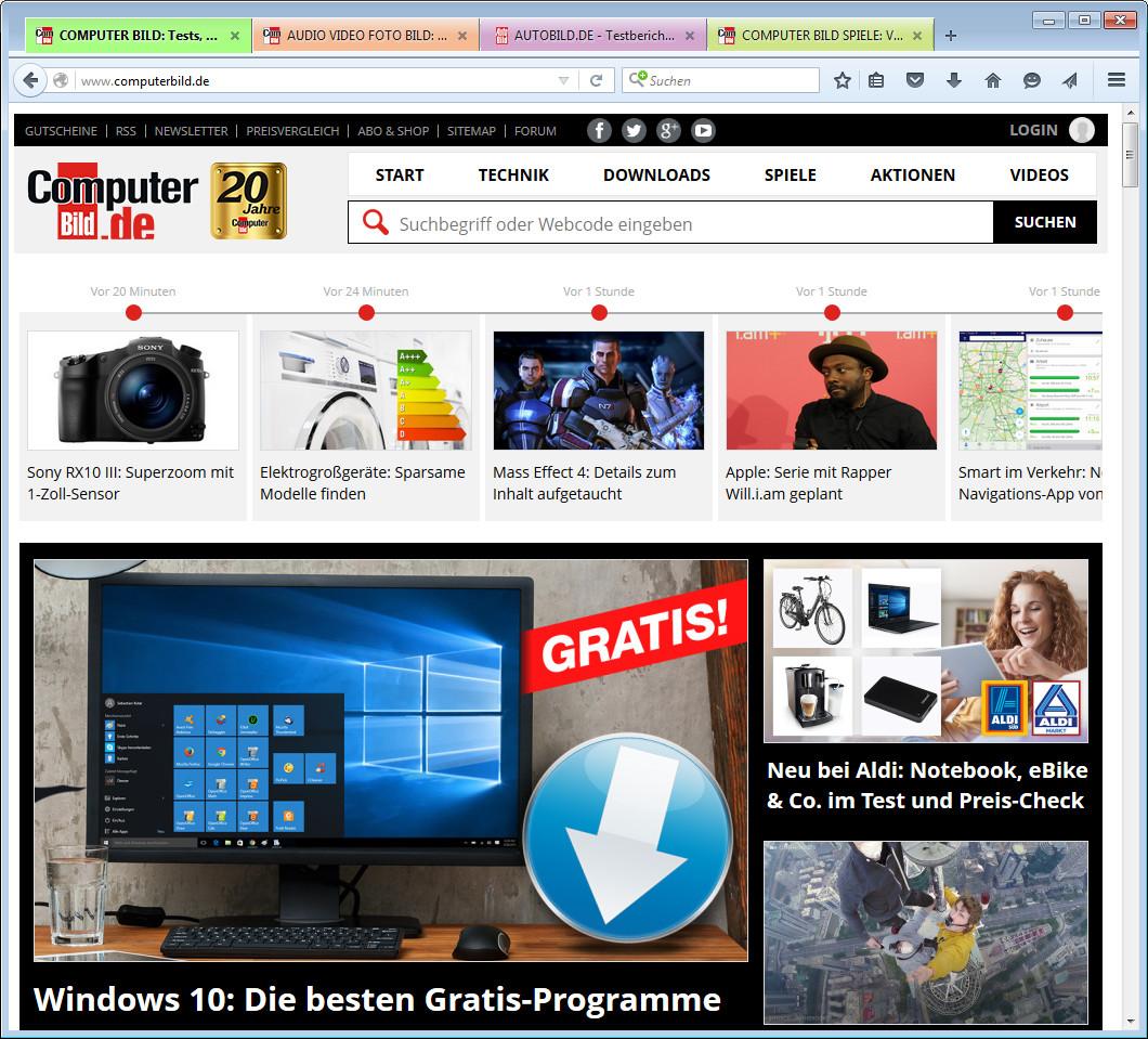 Screenshot 1 - ColorfulTabs für Firefox