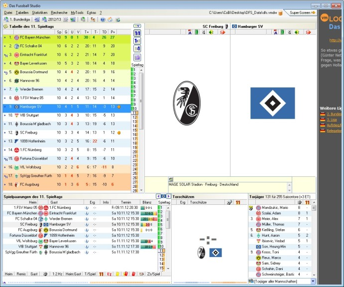 Screenshot 1 - Das Fußball Studio