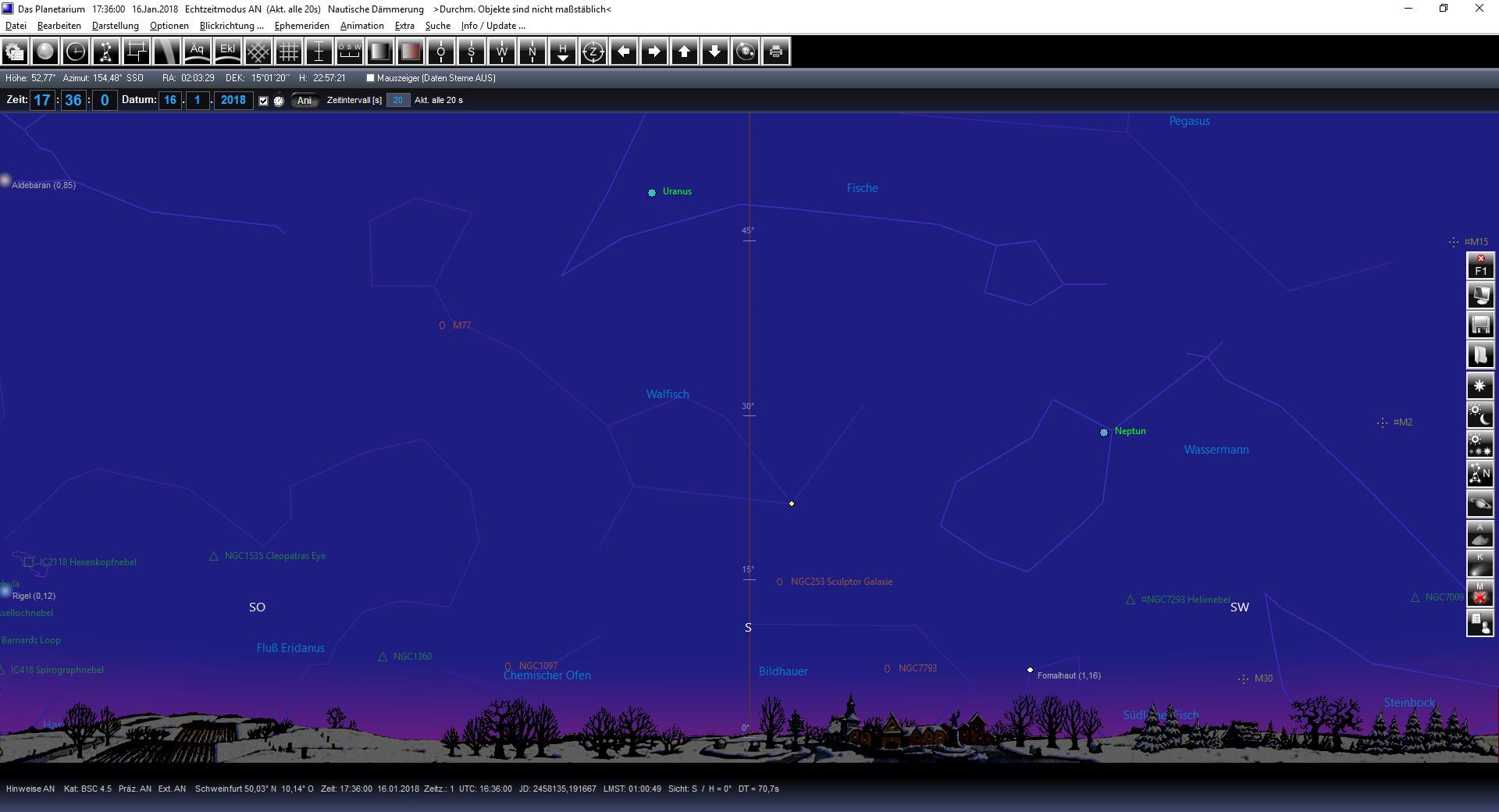 Screenshot 1 - Das Planetarium 1900-2100