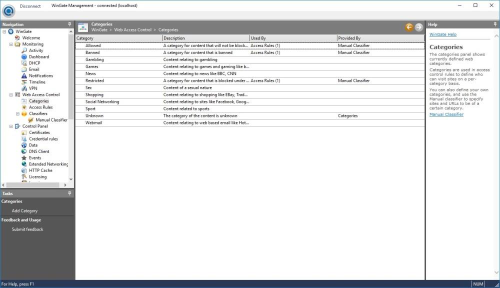 Screenshot 1 - WinGate