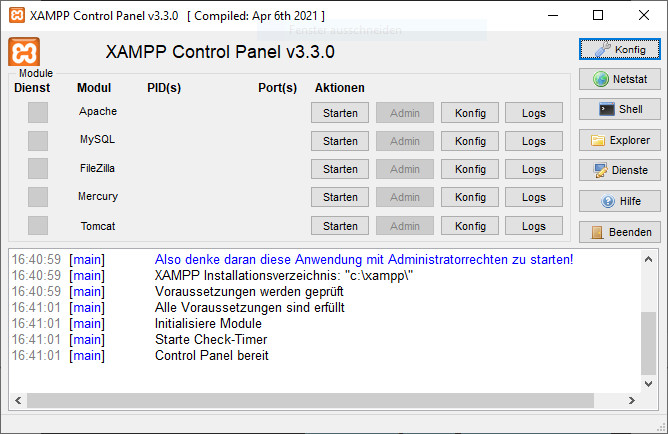 Screenshot 1 - XAMPP