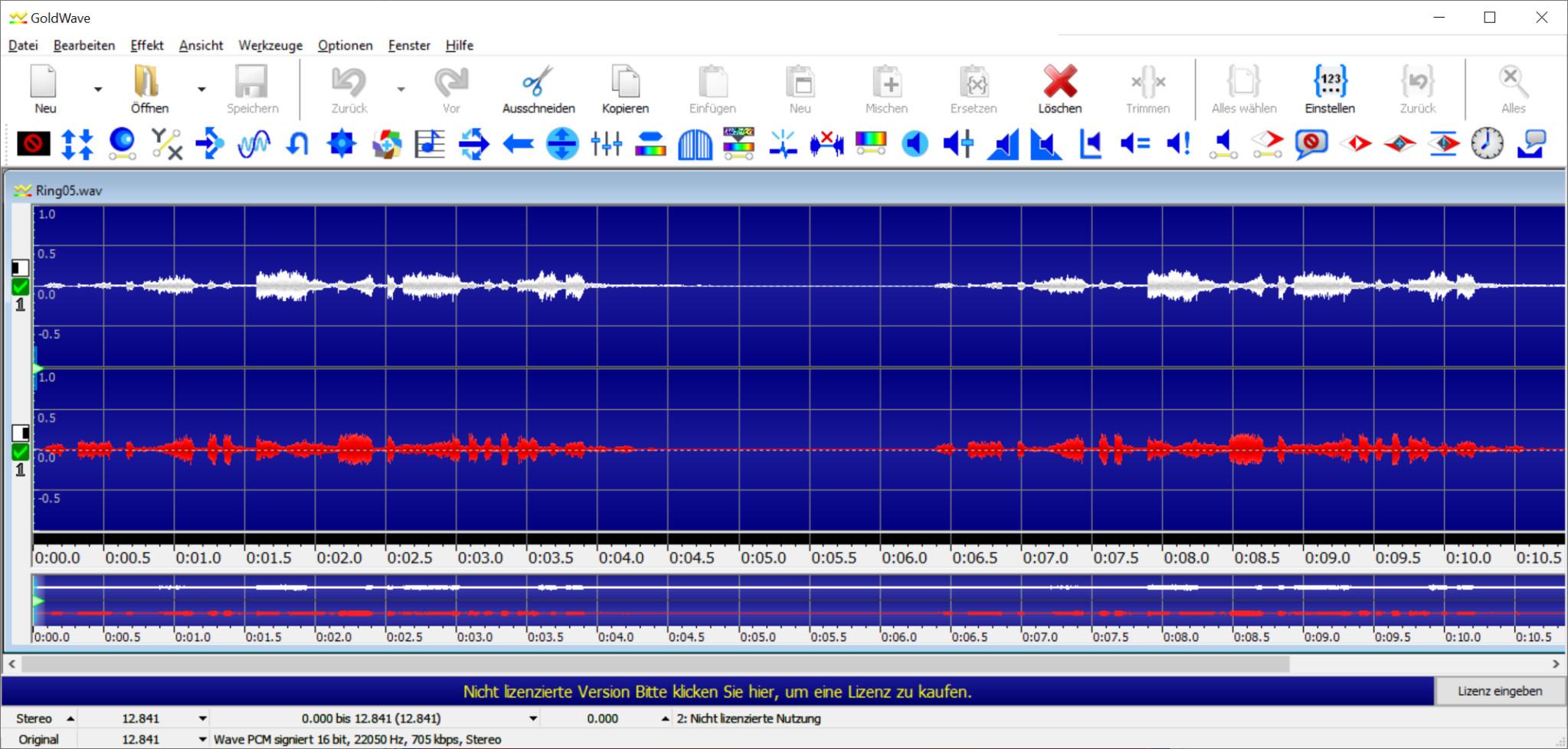 Screenshot 1 - GoldWave